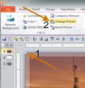 Change Picture button in PowerPoint
