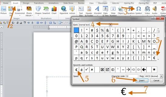 7 tedious clicks to insert a tiny symbol!