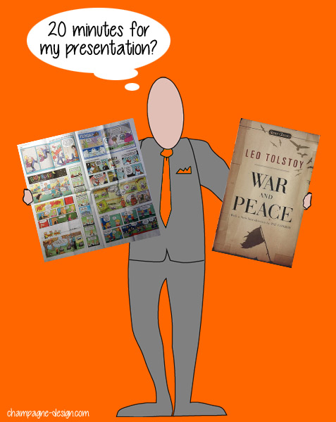 Which will you choose for a 20 minute presentation?