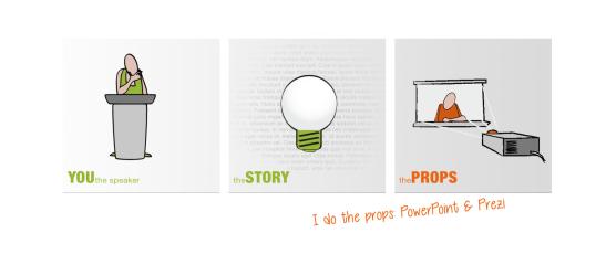 I do the props — PowerPoint & Prezi