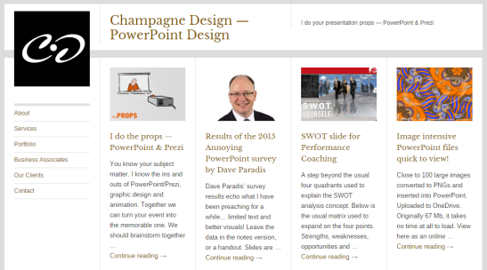 New look for the champagne-design.com website